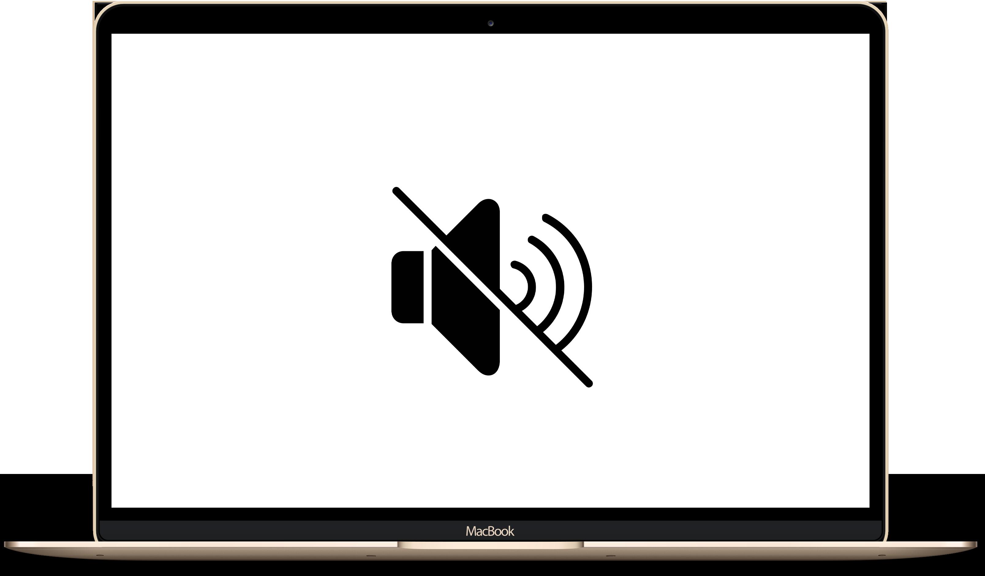 Не работает звук на MacBook